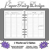 Kalendereinlagen 2020/2021/2022 - DIN A5 (14.8cm x 21cm) - 1 Woche auf 2 Seiten - 120g Premium Papier