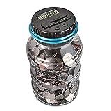 Caja de Ahorro de Dinero, Banco de Monedas de conteo Digital con Regalo de Ahorro de Monedas de Pantalla LCD