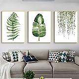 Cuadro de pintura en lienzo Plantas verdes Cuadro de pared Estilo...