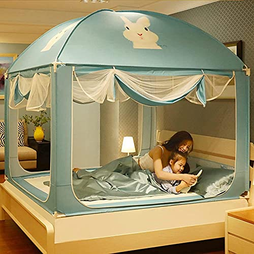 QPP-CL Mosquitera Net Canopy para Cama de Matrimonio Cama de Cama con 3 entradas 1 8m Altura Finest Holes Mosquito Netificación Fácil de Instalar