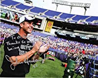 John Harbaugh Baltimore Ravens 8x10 Color Photo Signed in Silver Ink