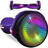 RangerBoard Hoverboard Enfant - 6,5' - Bluetooth - LED Coloré - Self Balancing Board Adulte - 700W - Smart Scooter Deux Roues - Skate Électrique Cadeaux Pas Cher - Certifié CE UL2272 - Violet Chromé