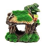 Tickas Adorno De Acuario, Ornamento del Acuario Resina Artificial Moss House en Forma de Bricolaje Hollow Hides Ornament para Fish Tank Aquarium Landscape Decoration