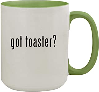 got toaster? - 15oz Ceramic Inner & Handle Colored Coffee Mug, Light Green