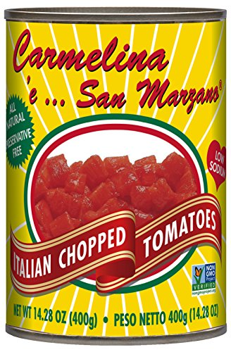 Carmelina San Marzano Italian Chopped Tomatoes in Puree, 14.28 ounce (Pack of 12)