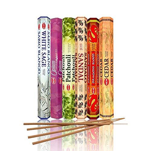 HEM Incense Sticks Best Sellers 6 Boxes X 20 Grams, Total 120 Gm