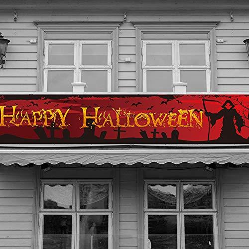 HAIMEN Großes Halloween-Banner, hängende Yard-Banner im Freien, gruseliges blutiges lustiges Banner-Zubehör Home Halloween Party Decor