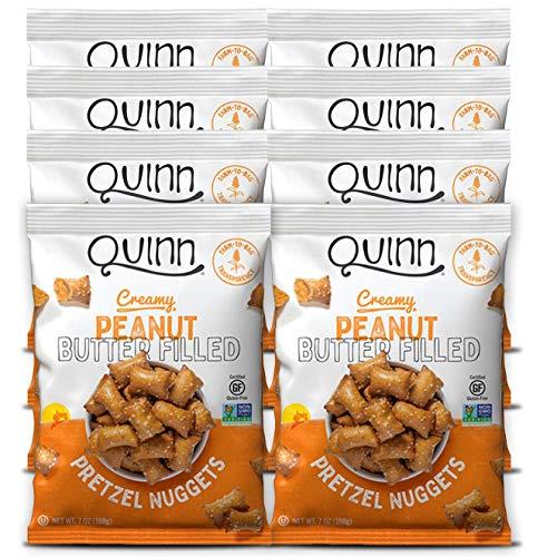 Quinn Peanut Butter Filled Pretzel Nuggets, Gluten Free, Non-GMO, 7 oz Bag (8 count)