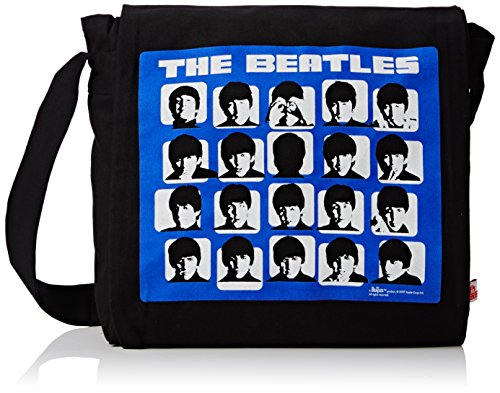 THE BEATLES schoudertas, zwart