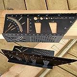 dgyl88 Regla de ángulo 45 herramientas de 90 grados portátil preciso marcado medidor cuadrado de carpintería accesorios de aleación de aluminio de medición multifuncional métrica