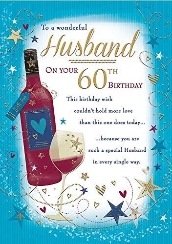 Traditionele mijlpaal leeftijd verjaardagskaart leeftijd 60 man - 10 x 7 inch - Piccadilly groeten