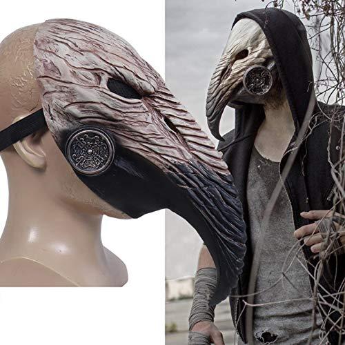 Maschera medico della peste,maschera di becco di uccello naso lungo nero,costume cosplay di Halloween Steampunk,puntelli di Halloween Costume rivetto Steampunk cosplay gotico retrò maschera di uccello