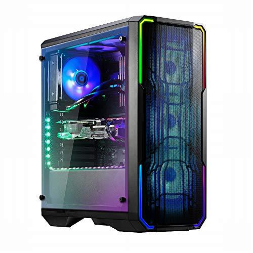 BitFenix BFC-ESM-150-KKWGK-RP - Computer-Gehäuse (Midi ATX Tower, PC, Kunststoff, Stahl, Gehärtetes Glas, Schwarz, ATX,EATX,Micro ATX,Mini-ATX, Gaming)