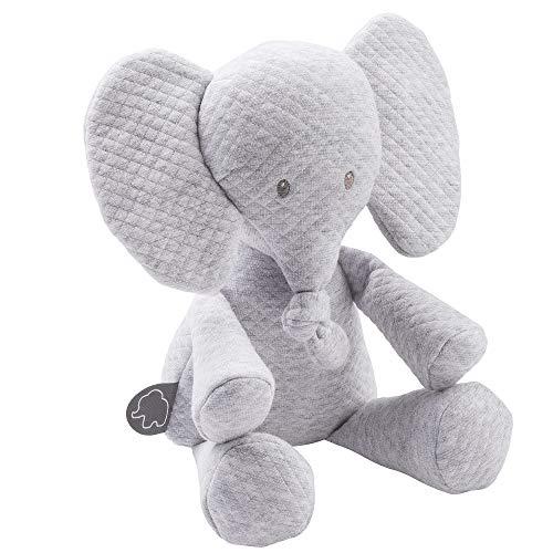 Nattou Kuscheltier Elefant, Gesteppt, Tembo, 32 x 23 x 8 cm, Grau, 929363