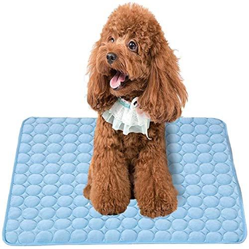 NALCY Almohadilla para Perro, Cojines para Mascotas, Alfombra refrescante para Perro, Alfombrilla de Refrigeración Automática para Animales de Compañía(M 60 * 50cm)