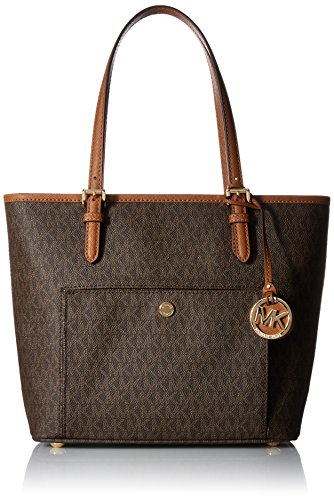 Michael Kors - Jet Set Item, Bolsos totes Mujer, Marrón (Brown), 13x24x25...