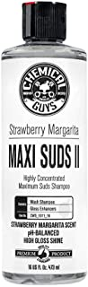 Chemical Guys CWS_1011_16 Maxi-Suds II Super Suds Car Wash Soap and Shampoo, Strawberry Margarita Scent (16 oz)