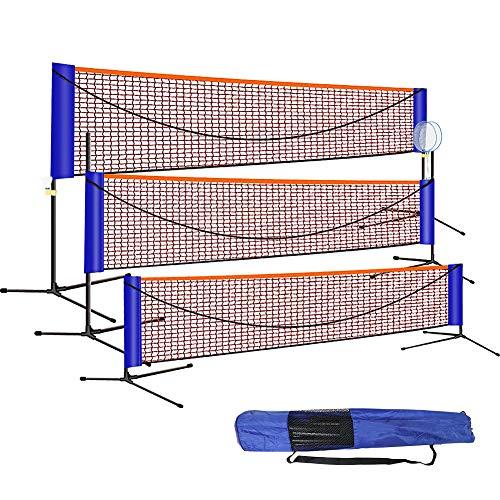 GUIFIER Faltbares tragbares Badminton-Netzset mit Einstellbarer Standhöhe, für Tennis im Innen- oder Außenbereich, Volleyball, Badminton.