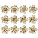 HEALLILY 12 stücke sackleinen Blumen DIY Rose Blumen Weihnachten Blumen verschönerungen für Handwerk nähen stirnbänder Weihnachten gastgeschenke Stil b