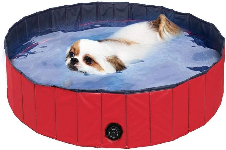 Botrong PVC Pet Swimming Pool Portable Foldable Pool Dogs Cats Bathing Tub Bathtub Wash Tub Water Pond Pool & Kiddie Pools Kids in The Garden (160x30cm 63x12 inch)