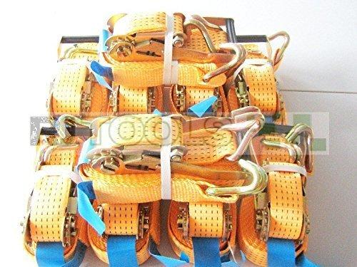 10 x 5000 kg spanband 9 m EN 12195-2 ratel sjorriem spanriem ratelspanband tweedelig 5 T