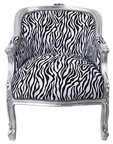 Sessel Barockstil Kaminsessel Zebra Stuhl Vintage Ohrensessel Bergere Antikstil cat660e22 Palazzo Exklusiv