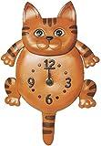 Reloj de pared, diseño de animal de piel auténtica Cat * vanca * Fabricado en...