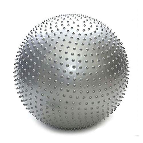 XDDQB Yoga-Ball Massageb?Lle Massageb?Lle Fitness Trainieren Gymnastikball Mit Pumpe Fitnessball FüR Fitness Reha RüCkentraining Und Coordination-Stachel-Grau 85cm