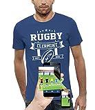PIXEL EVOLUTION T-Shirt 3D Rugby Clermont en Réalité Augmentée Homme - Taille XL - Bleu Royal