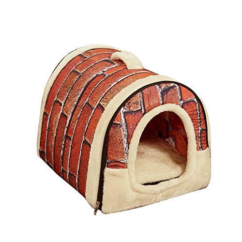 periwinkLuQ Haustierhaus und Sofa, 2-in-1, weich, warm, für Hunde und Katzen, Kaninchen, mit herausnehmbarem Kissen, Abnehmbare Kaschmir-Matratze