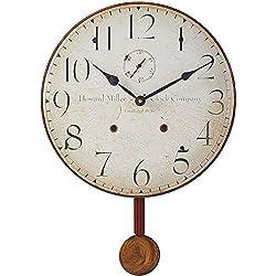 Howard Miller Original II Wall Clock 620-313 – Antique & Round with Quartz Movement