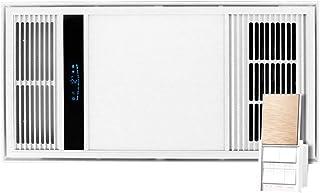 GXFC Techo de Luz de Ventilador de Calefactor Combo Baño Extractor de Aire con Plafón LED y Termoventilador Multifuncional 4 en 1 Hogar Calefacción - Interruptor de 5 Botones