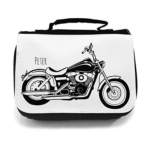 ilka parey wandtattoo-welt Waschtasche Waschbeutel Kulturbeutel Kosmetiktasche Reisewaschtasche cosmeticbag Motorrad Bike Shopper wt016