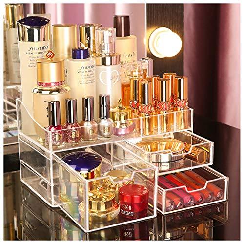 Subsky Organizador de Maquillaje, Make up Caja de Almacenamiento de cosméticos con cajones Soporte de Organizador de Escritorio de cosméticos de acrílico