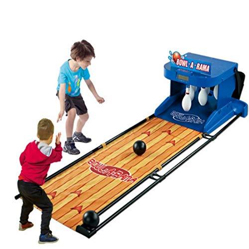 RSGK Elektrisches Bowling Für Kinder Mit Analogem Bewertungsgerät, Interaktiver Spielautomat Für Eltern Und Kind Mit Zwei Spielern