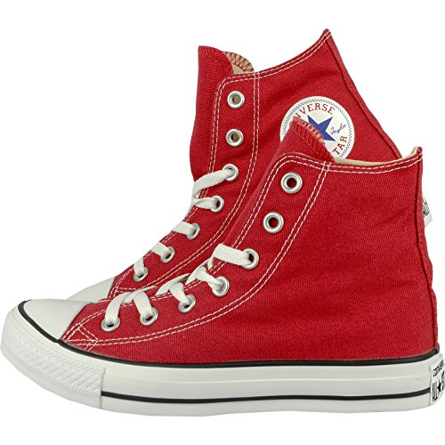 Converse AS Hi Can charcoal 1J793, sneaker unisex da adulto, Rosso (Rosso Crimson.), 37 EU