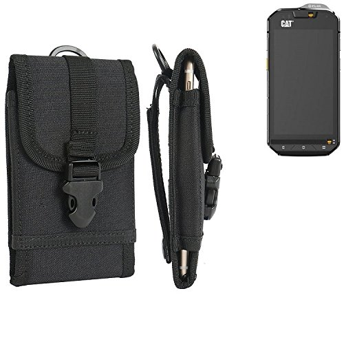 marsupio / custodia per Cat S60, nero | cassa del telefono calotta di protezione Smartphone sacchetto esterno / campeggio - K-S-Trade (TM)