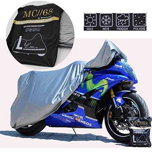 Funda Para Moto Interior, Cubierta Motocicleta Exterior, Protección Rayos UV Anti Polvo, Impermeable, Arañazos, Resistente, Lona Elástica Encerada