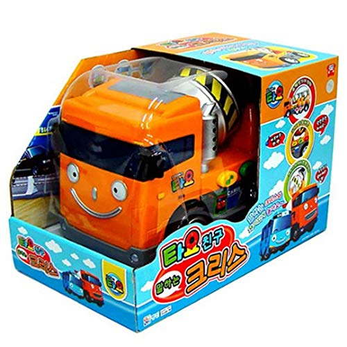 Tayo Heavy Equipment Friends Talking Chris, The Little Bus Friends Car Gift for Boys Birthday Christmas Car Toy