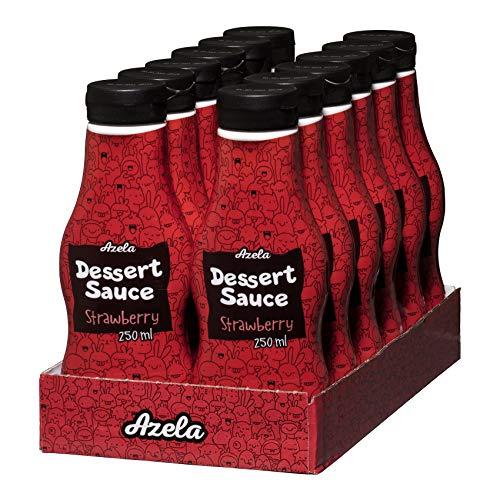 AZELA Strawberry Dessert Sauce, salsa alla fragola in...