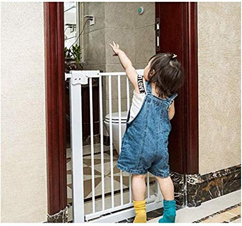 Jacquelyn Safety Gate Pressure Fit Safety Metal Stairway Gate Stands 78cm tall The width can be selected from 61 to 262cm Dog Gate Baby Gates with Extensions Available Ideal for Kids and Pets