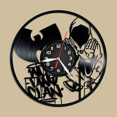 Wu Tang Design Vinyl Record Wall Clock Unique gifts for him her Gift Ideas for Mothers