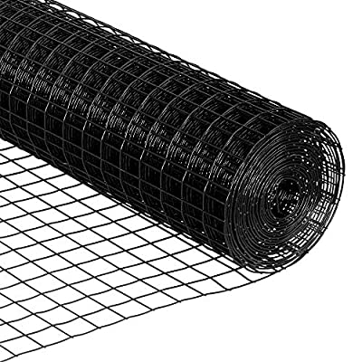 """Perfect Fence Galvanized & Black Coated Welded Wire (100 Feet, 24"""" Height - 16 Gauge - 1.7"""" x 1.7"""" Grid)"""
