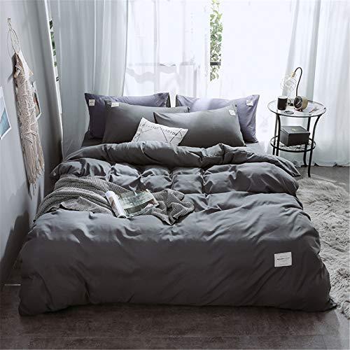 Ropa De Cama De Cuatro Piezas Textiles para El Hogar Color Puro Funda Nórdica Simple Atmosférica Y Fácil De Limpiar con Cremallera 150x200cm