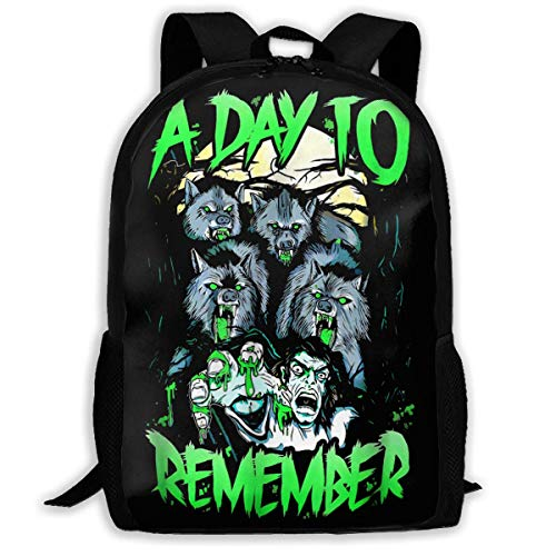 XCNGG Chenhc A Day to Remember Polyester Backpack, All-Print Backpack Adult Travel Bag Cool Kids School Bag.