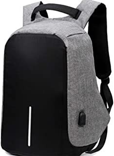 Laptop Backpack with USB Charging Port Waterproof Anti-theft Bag for Men and Women Black and Grey Colour