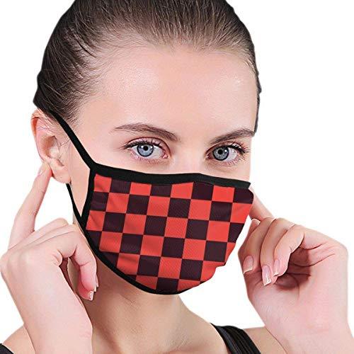 Schwarze und rote Steine Der Gesichts- und Mundschutz schützt Sie vor Staub und seltsamen Gerüchen