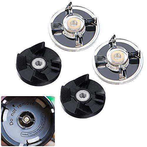 KBNIAN 2 Base Gear+2 Gomma Lama Ingranaggi di Ricambio Frullatore Parti di Ricambio Mixer Accessori, per Magic Bullet 250W Juicer