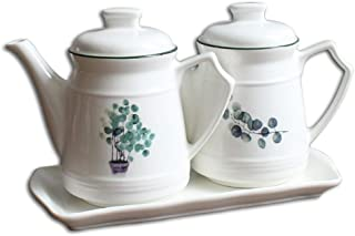 SCDZS Boîte de rangement d'assaisonnement de récipient de cuisine en céramique Boîte de rangement de sauce de soja de vina...