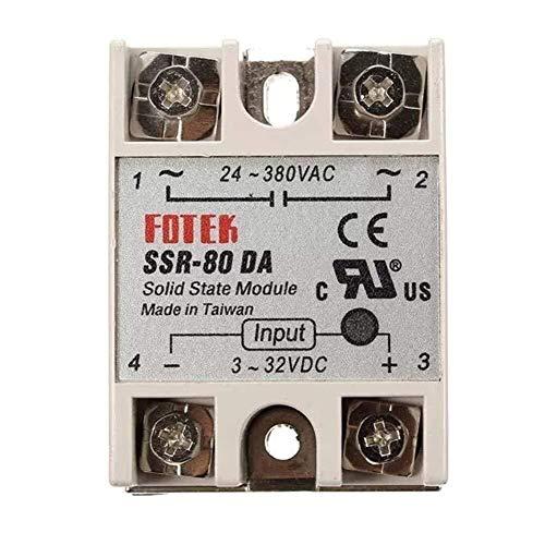 CENPEN Salida de CC a CA 24V-380V 80A SSR-80DA Módulo de relé de estado sólido